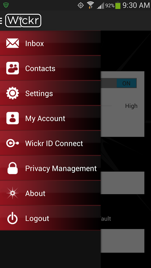 Wickr-Top Secret Messenger - screenshot