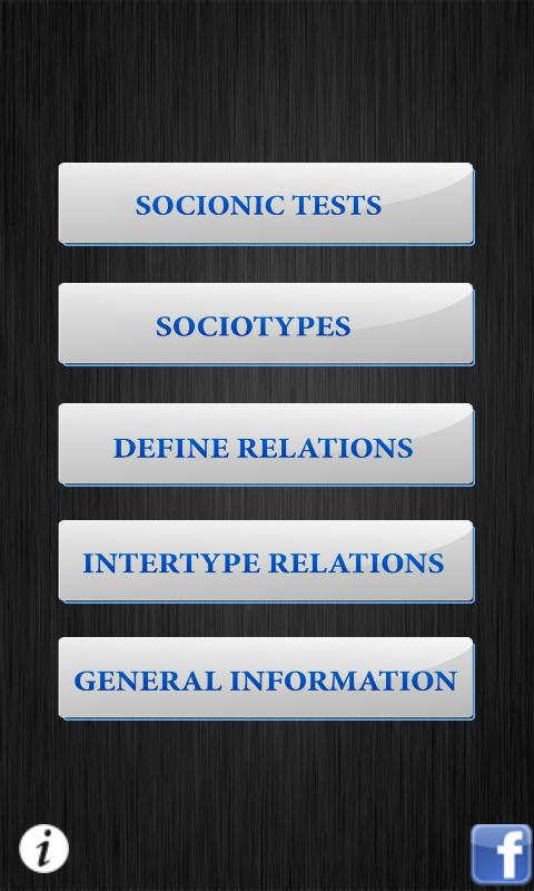 Socionics - screenshot