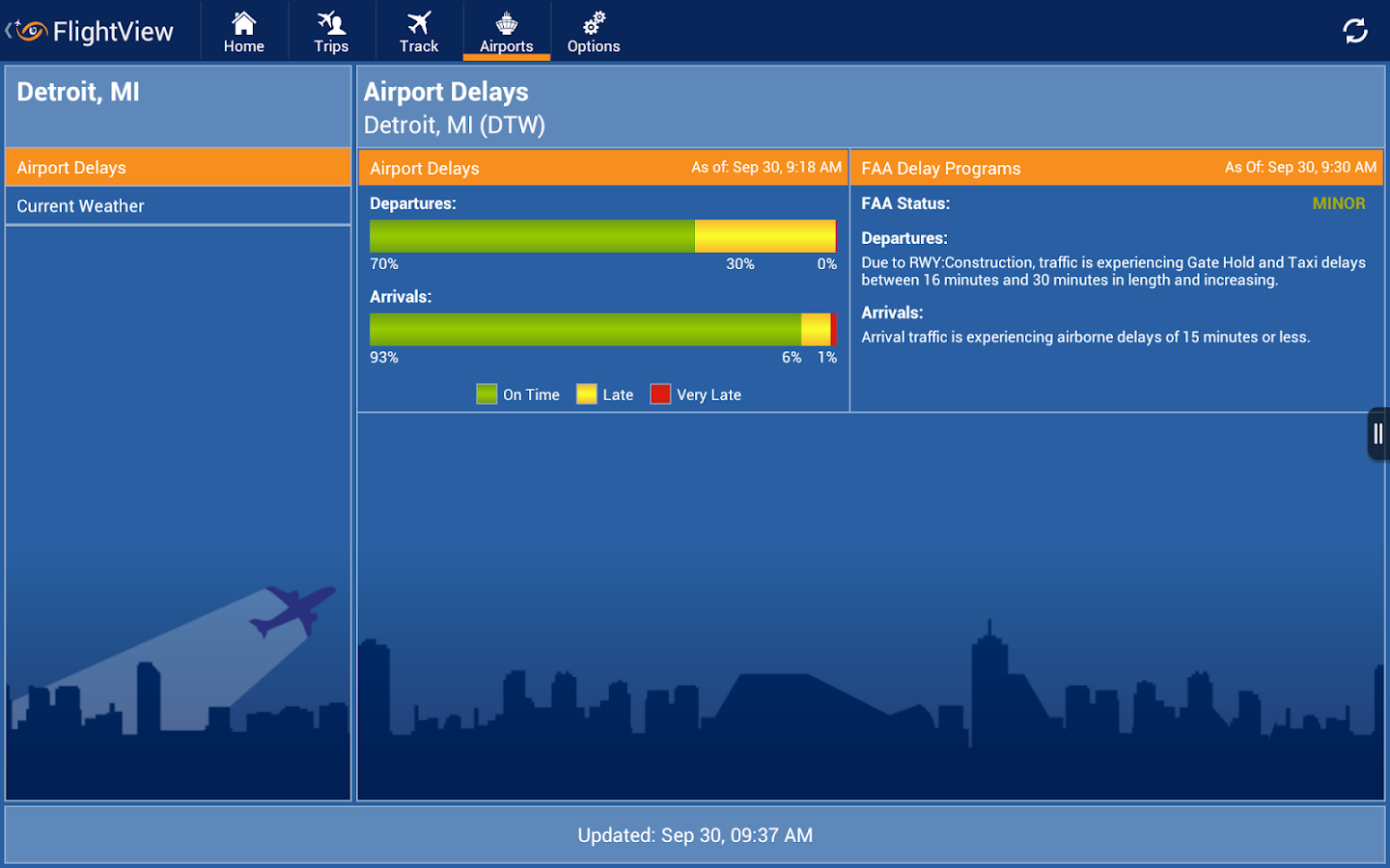 FlightView – Flight Tracker - screenshot