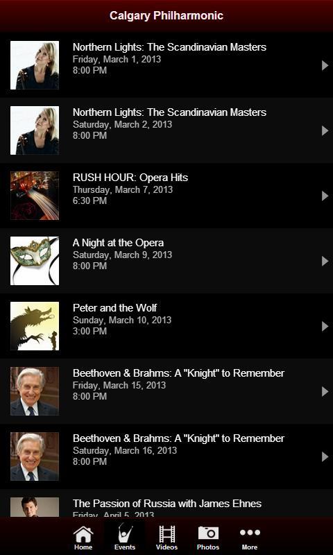 Calgary Philharmonic Orchestra - screenshot