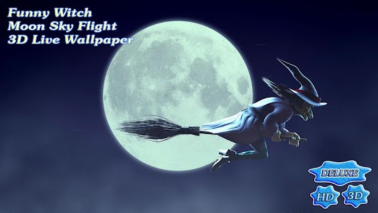 Funny Witch Moon Sky Flight 3D- screenshot thumbnail