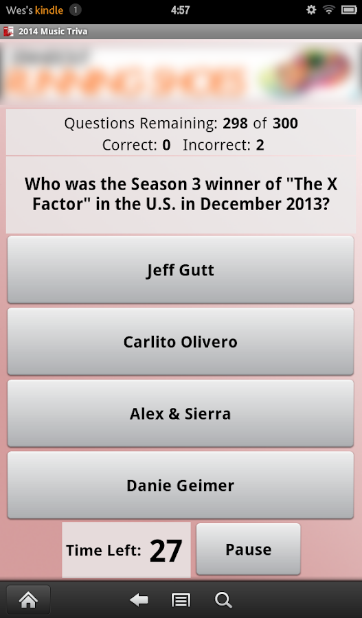 2014 Music Trivia - screenshot