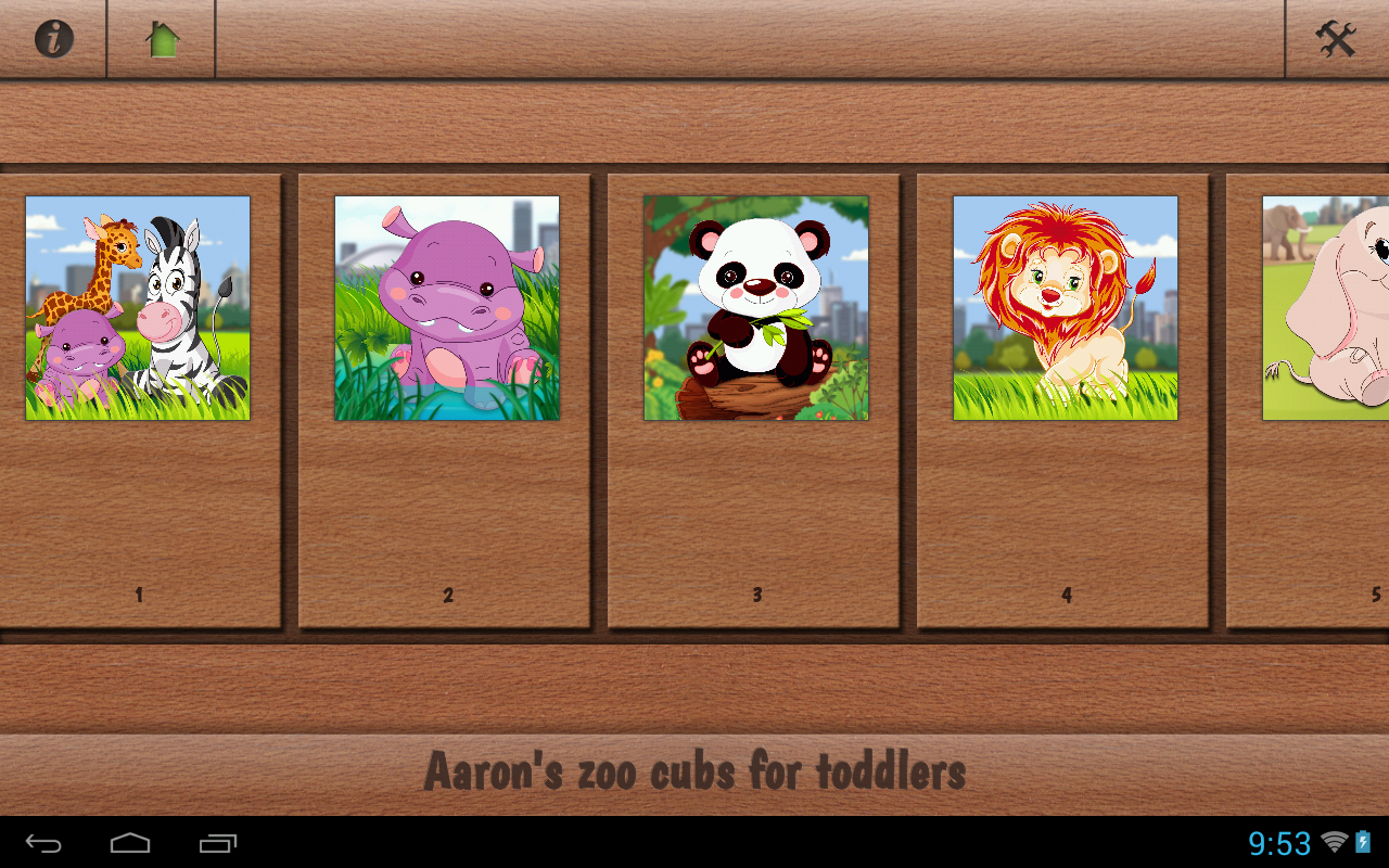 Aaron's Cute Zoo Cubs Puzzles- screenshot