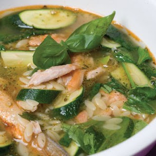 Salmon and Spinach Soup Recipe
