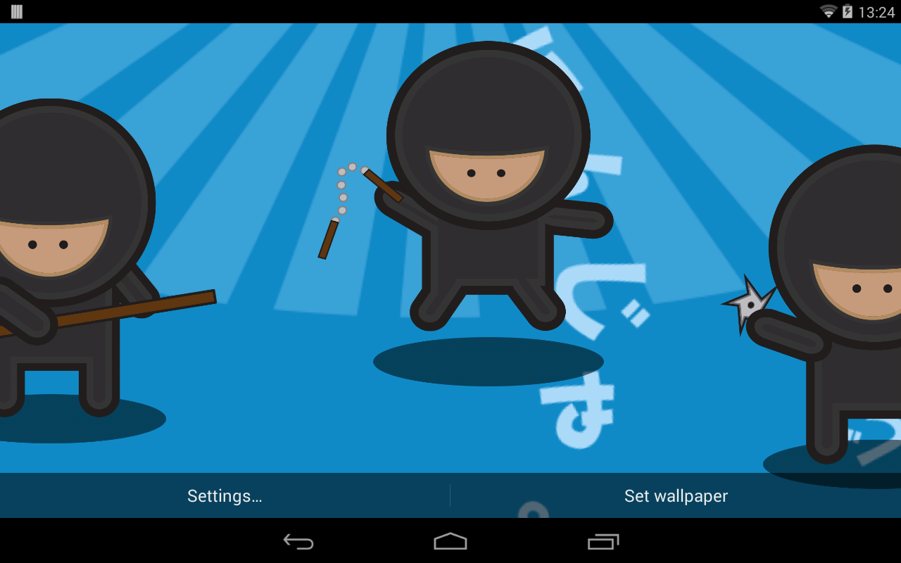 Gmail ninja theme - Ninja Parallax Live Wallpaper Screenshot