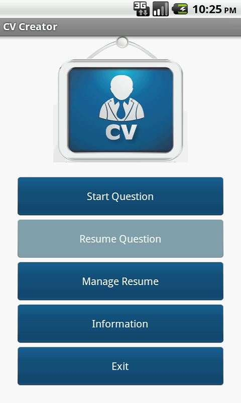 cv creator aka resume screenshot