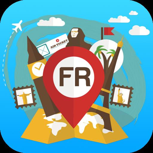 法国离线地图指南提示城市和天气 旅遊 LOGO-玩APPs