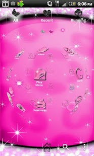 Pretty Pink Glitter theme 4 Go- screenshot thumbnail