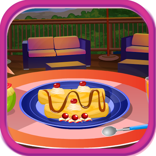 Chocolate crepes cooking games