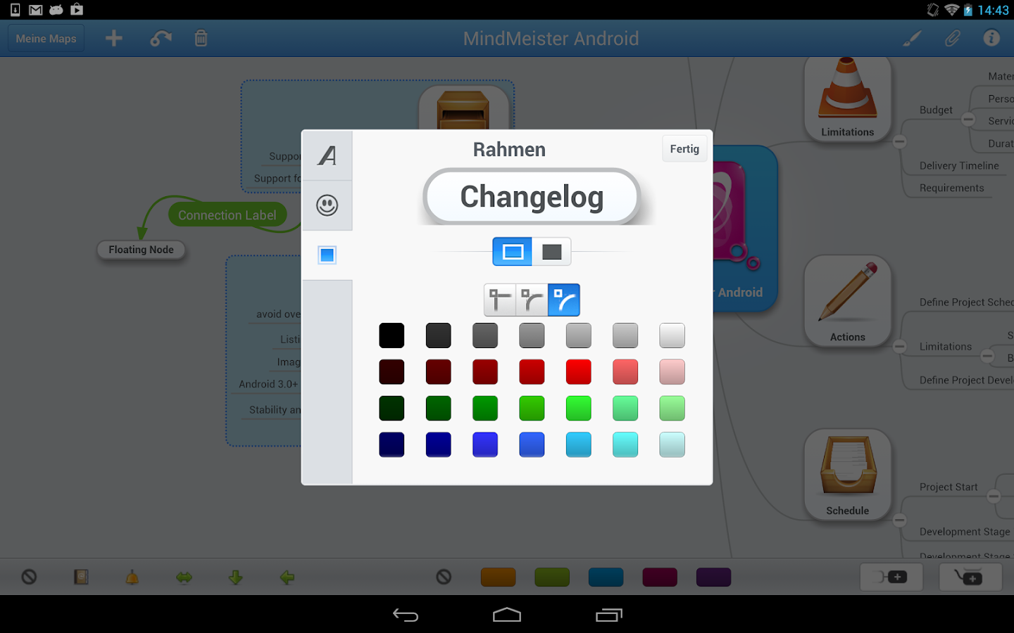MindMeister (mind mapping) - screenshot