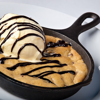 Brown Butter Chocolate Chip Cookie in a Skillet
