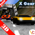 3D car racing xgear icon