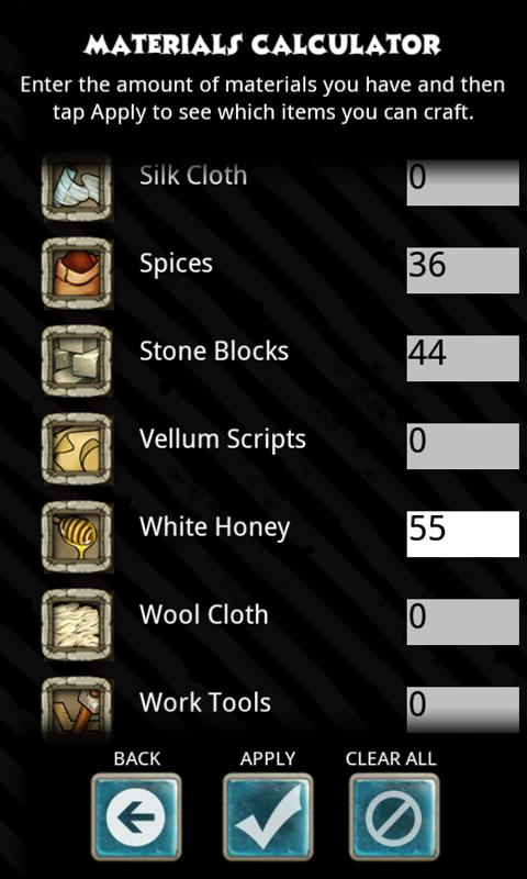 Crafting Guide - screenshot