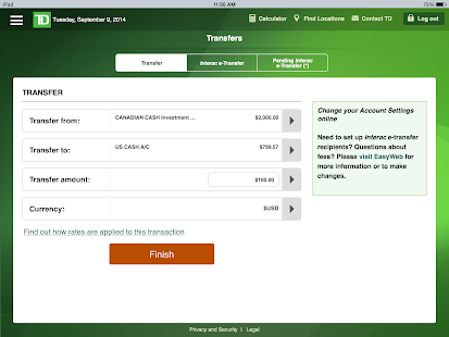 Td easy web send money | COOKING WITH THE PROS