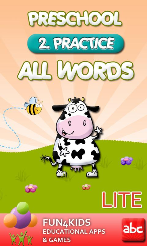 Preschool All Words 2 Lite- screenshot