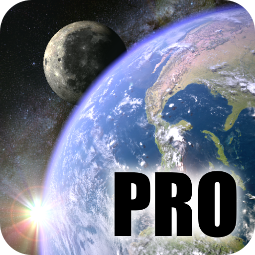 Earth & Moon in HD Gyro 3D PRO app for Android