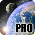 Earth & Moon in HD Gyro 3D PRO icon