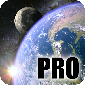 Earth & Moon in HD Gyro 3D PRO Parallax Wallpaper