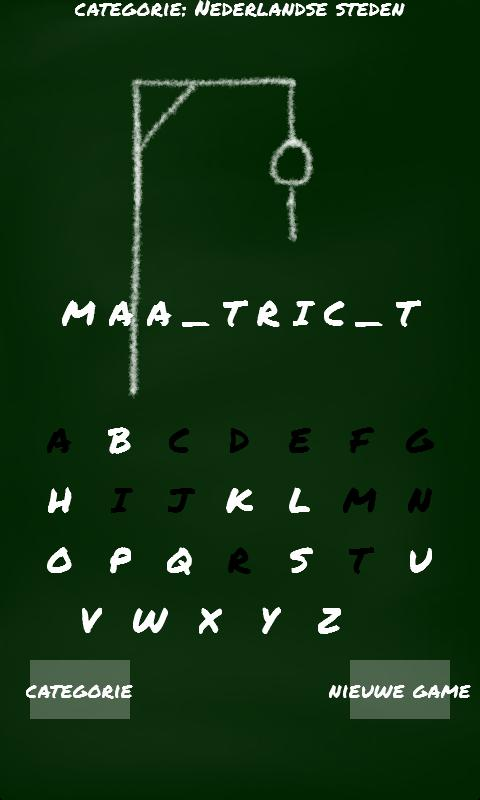 Hangman (Dutch) - screenshot