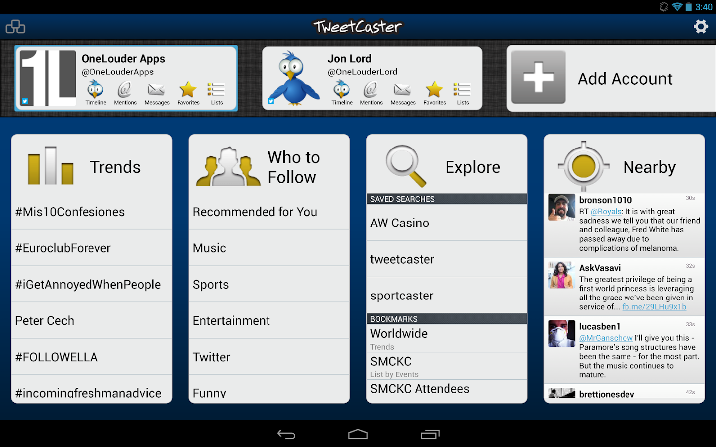 TweetCaster for Twitter - screenshot