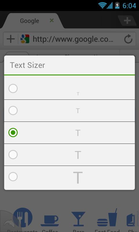 Dolphin: Text Sizer - screenshot