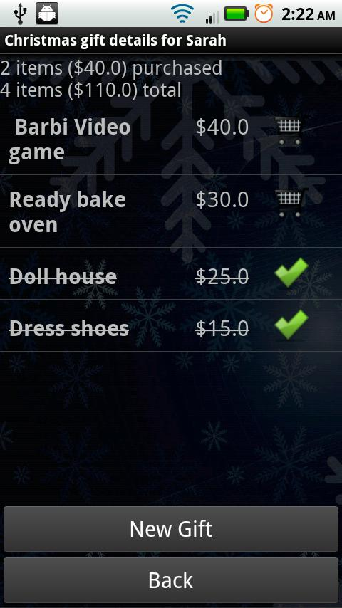 Gift List Manager Pro - screenshot