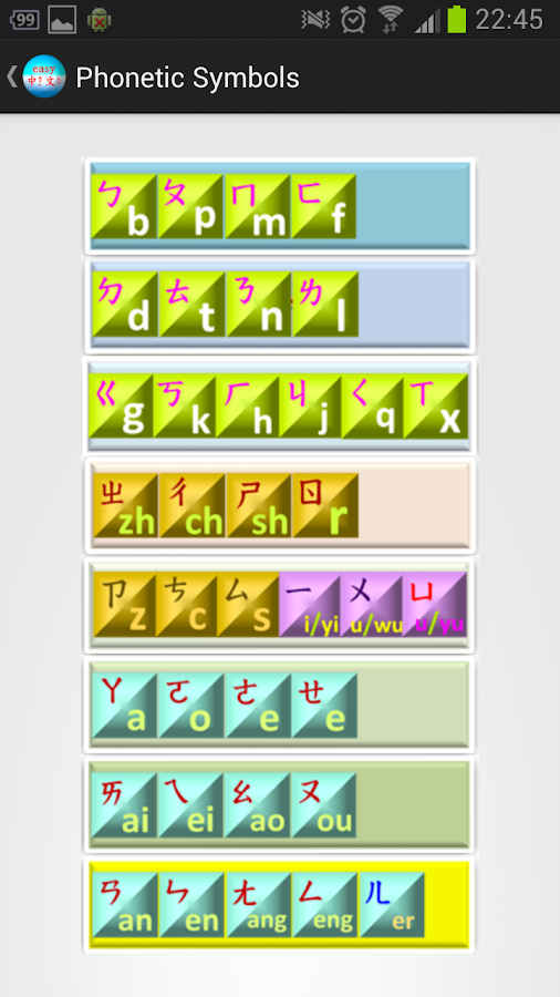 Chinese Phonetic Symbol 10a Android Apps On Google Play