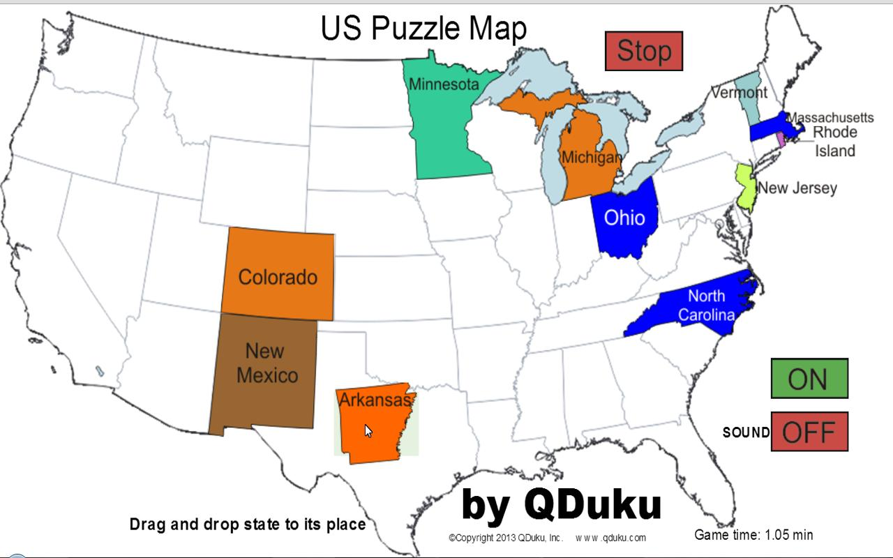 US States Map Puzzle Game Android Apps On Google Play - Us map puzzle online