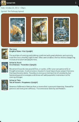 Wildwood Tarot screenshot