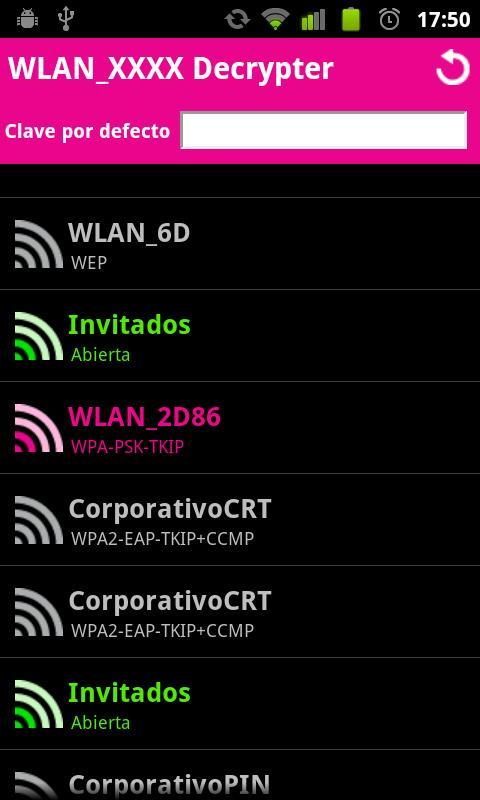 WLAN XXXX Decrypter- screenshot