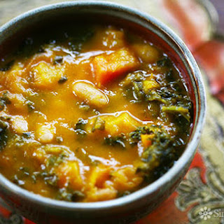 Kale and Roasted Vegetable Soup.