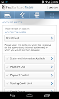 Screenshot of First Bankcard Mobile