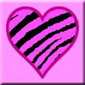 Pink Zebra Skin Hearts logo