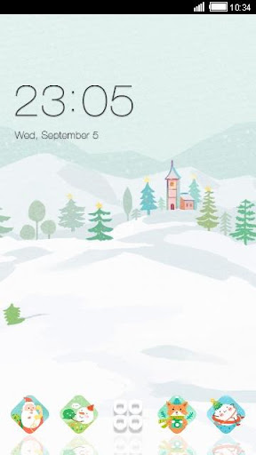 CHRISTMAS DAY C LAUNCHER 테마