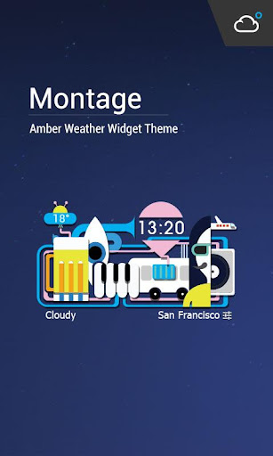 Montage theme weather widget