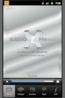 Screenshot of X FM/Florianopolis/Brazil
