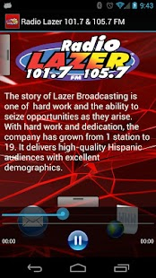 Radio Lazer 101.7 & 105.7 FM - screenshot thumbnail