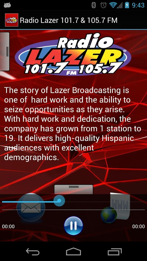Radio Lazer 101.7 & 105.7 FM - screenshot