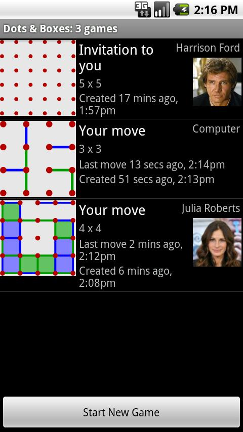 Dots & Boxes Phone-to-Phone- screenshot