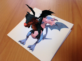 Screenshot of AR puzzle: Dragon and Hedgehog