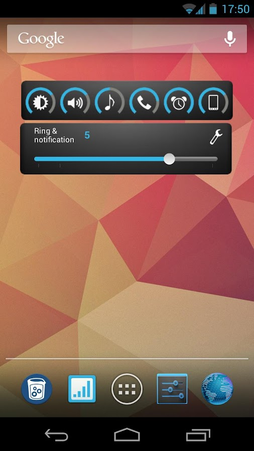 Slider Widget - Volumes- screenshot