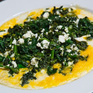 Spinach and Feta Omelette.