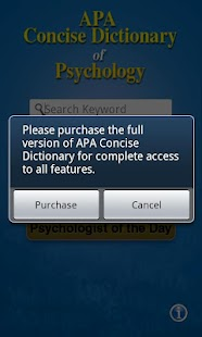 APA Concise Dictionary Free - screenshot thumbnail
