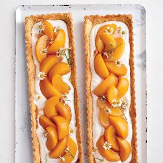 Chamomile-Peach Tarts