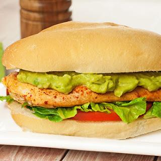 Pan-Seared Chicken Sandwich with Avocado Mayo.