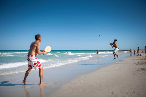 Paddle ball on Miami Beach.