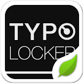 Typo Black GO Locker Theme