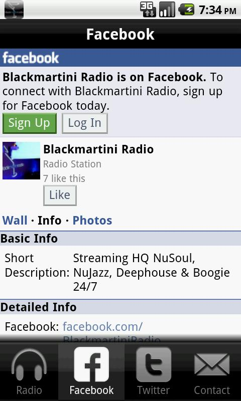 BlackMartini Radio - screenshot
