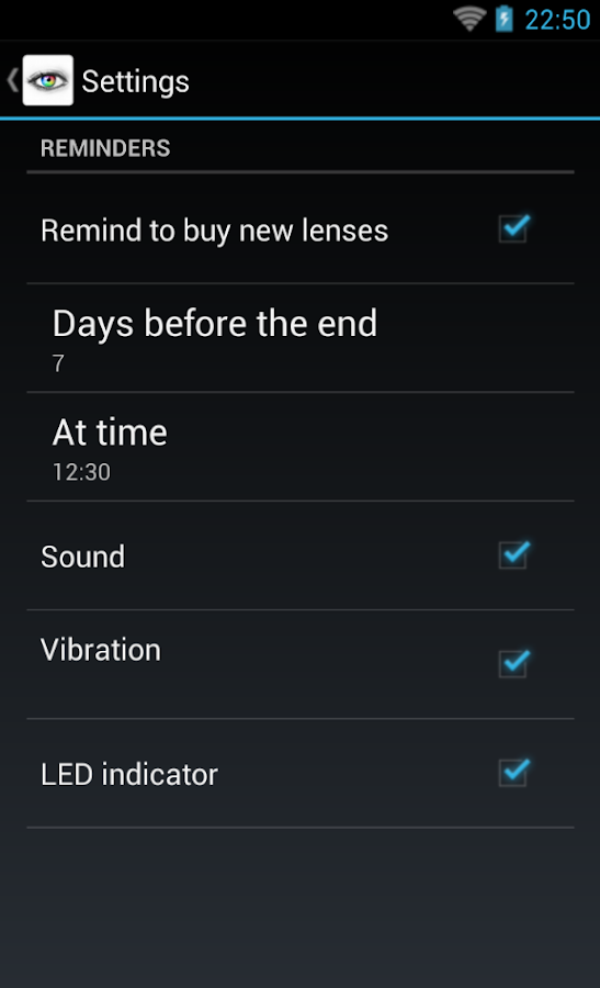 Contact Lenses - screenshot