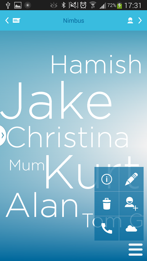 Nimbus Contacts- screenshot